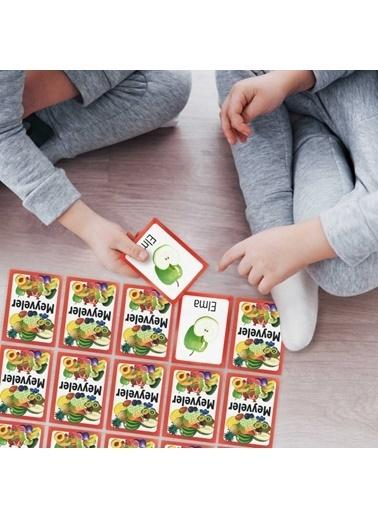 Artikel Meyveler Eşleştirme Hafıza Kart Oyunu Renkli
